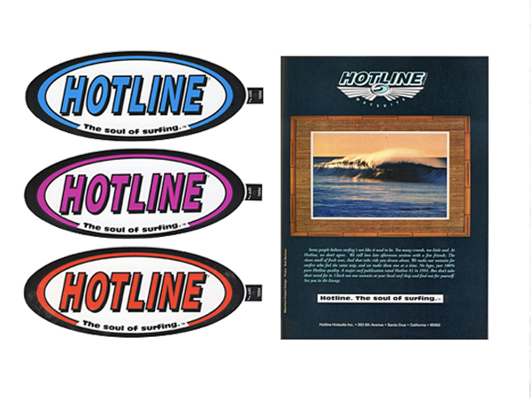 Hotline Wetsuits sticker hangtag