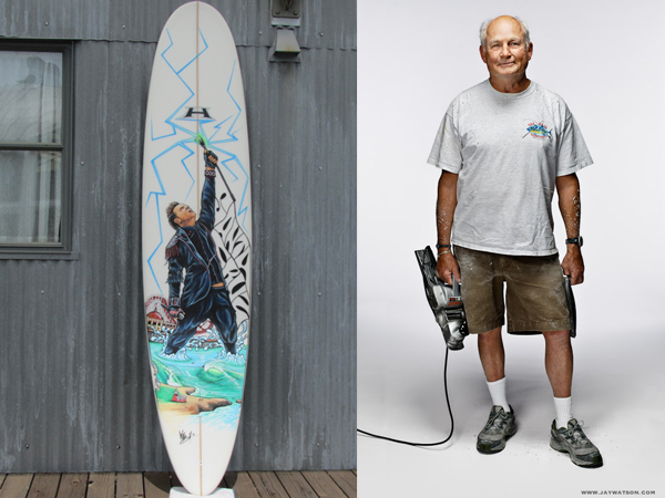James Durbin Doug Haut surfboard