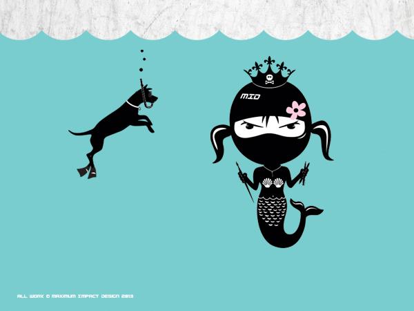 Maximum Impact Design Bad Girl Mermaid