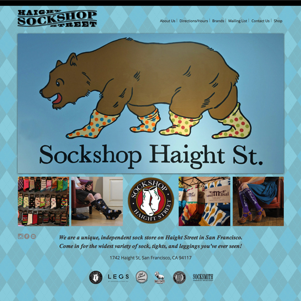 Sockshop Haight Website