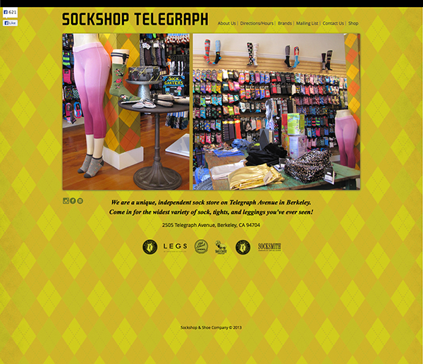 Sockshop Telegraph Website