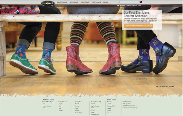 Socksmith Design Website page