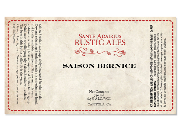 Sante Adairius beer label design