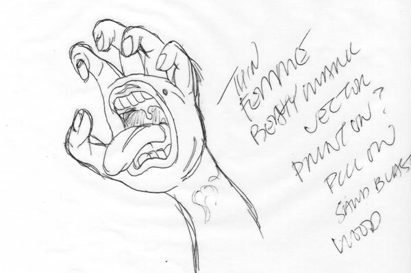 Screaming Hand Judi Oyama
