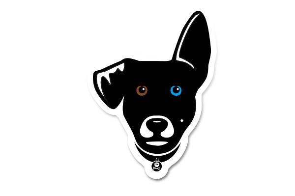 Cooper the Dog Sticker