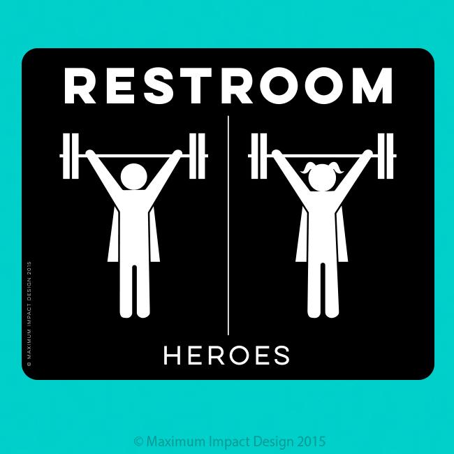 Crossfit Restroom Signage