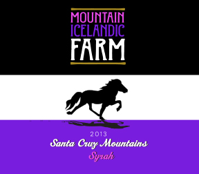 Mountain Icelandic Farms wine label