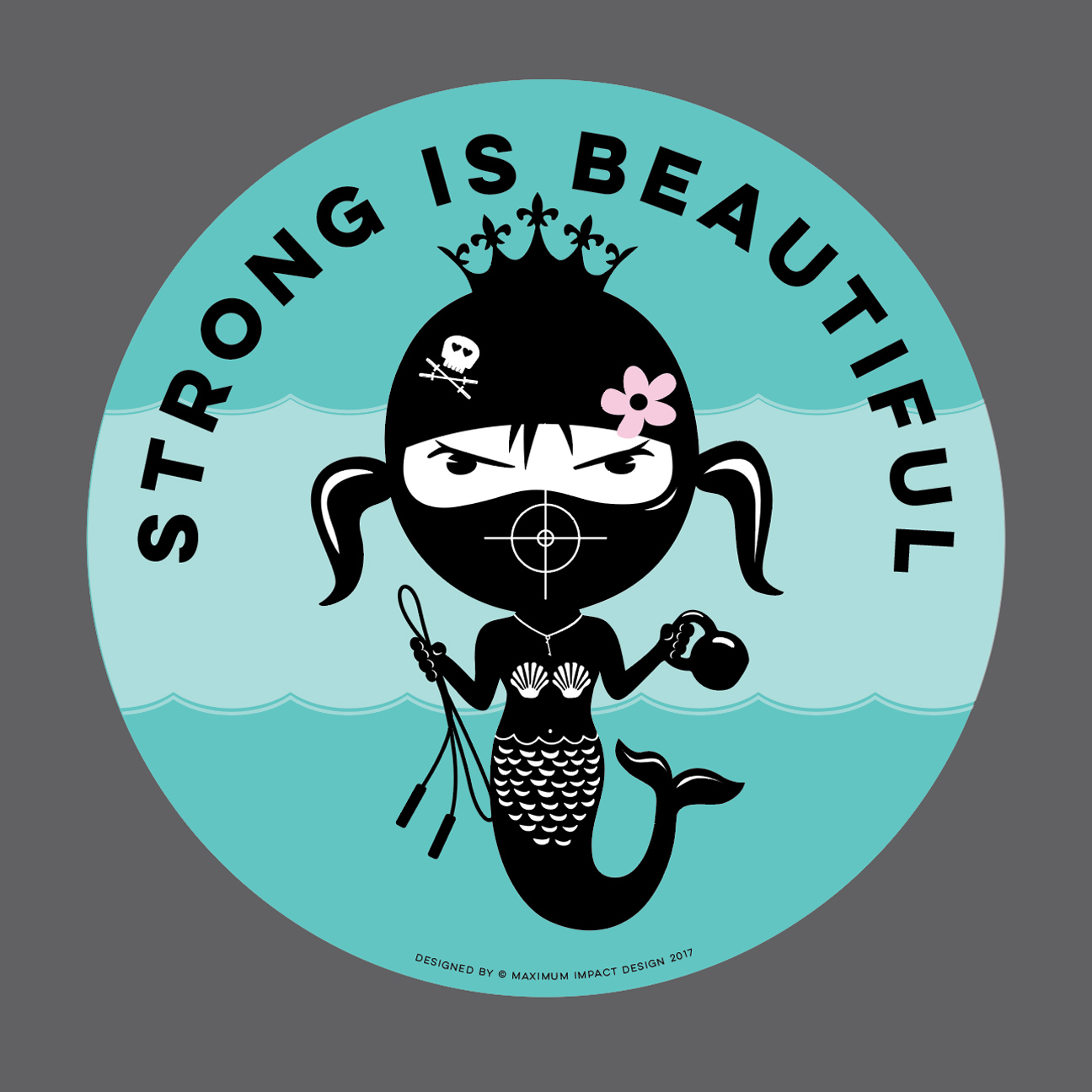 Strong is Beautiful Mermaid CrossFit Wall ball target