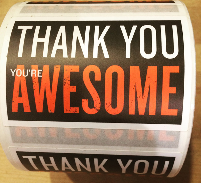 Thank you you're awesome sticker for Badass Skatemom